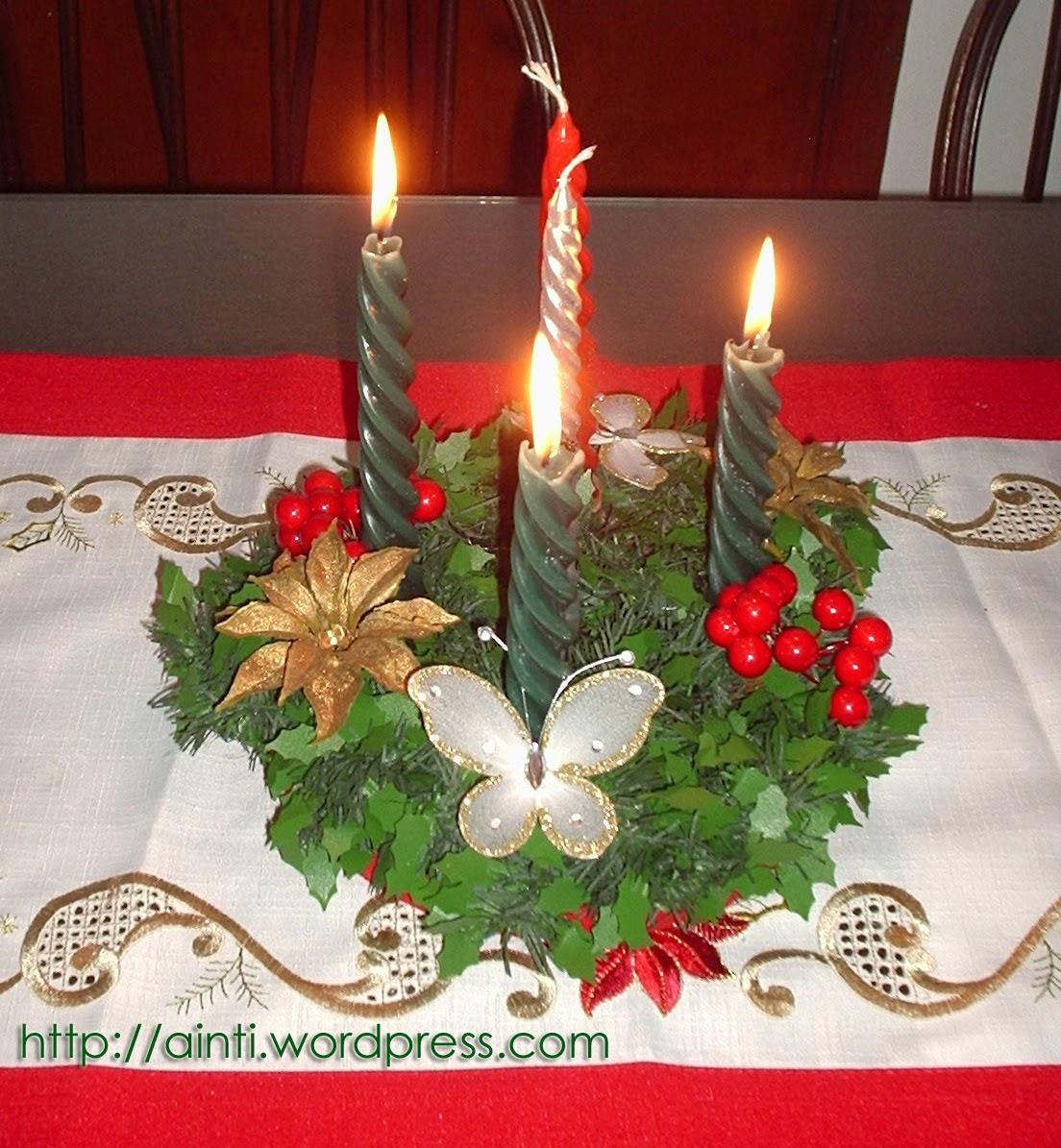 imagen de corona de adviento para navidad