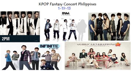KPop Fantasy Concert 2013 in Manila on January 19