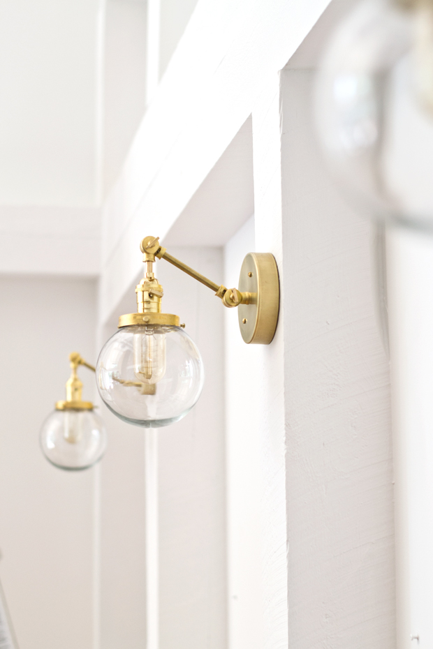 Large Wall Light Sconces : DIY Brass Sconce Tutorial sarah m. dorsey designs Bloglovin