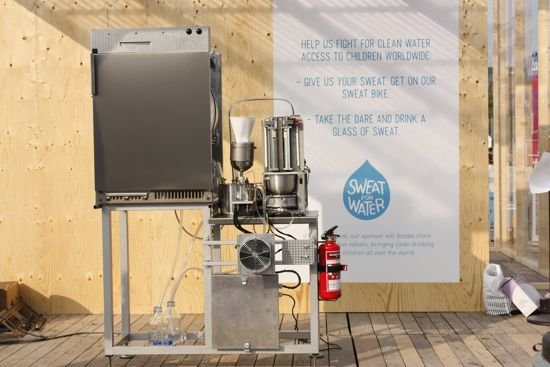 Swedish Machine Turns Sweat into Perfectly Good Drinking Water!
