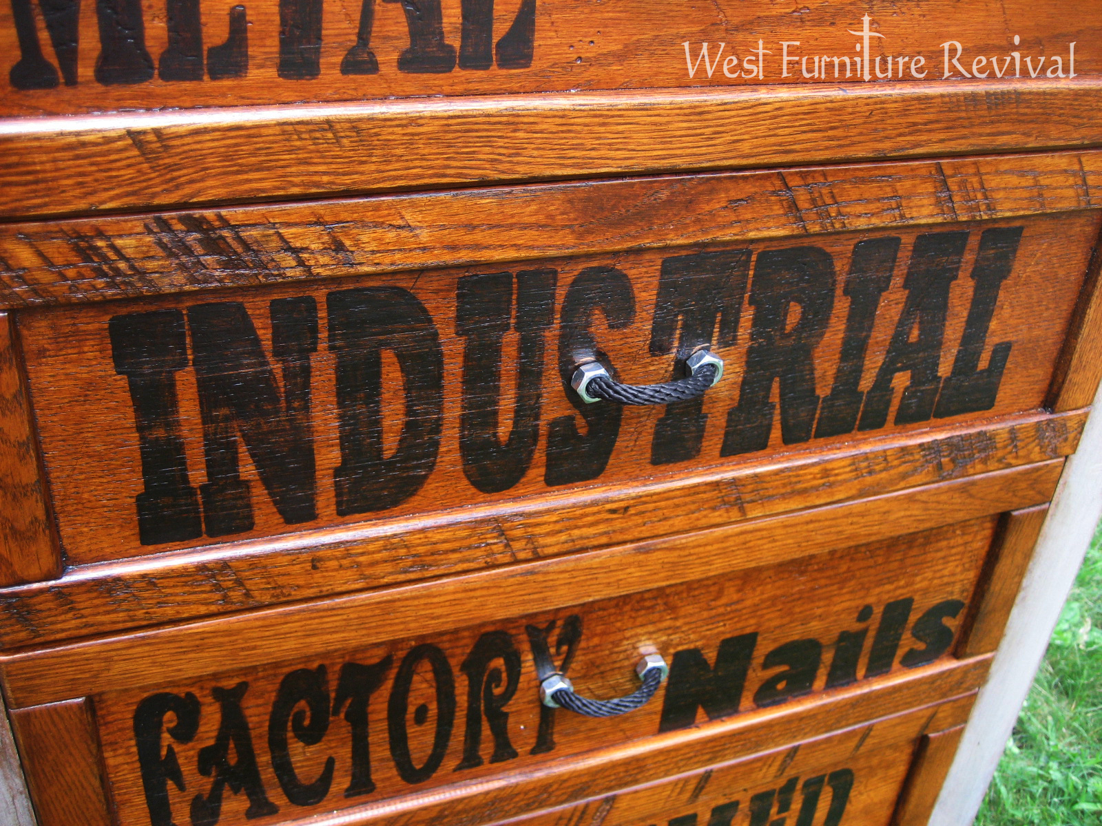 West furniture revival industrial dresser redo with diy for Furniture 7 letters