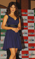 Priynaka Chopra in a Mini Blue Frock Spicy Photos