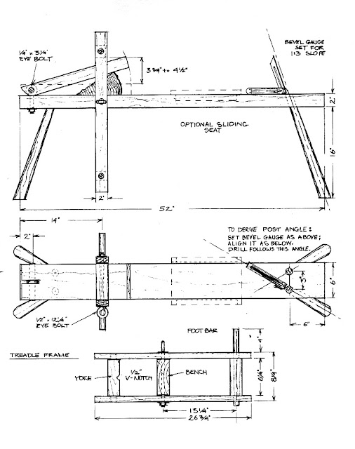 Building a shaving horse something i found Blueprints for sale