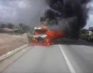 Incêndio destrói ambulância de São Vicente do Seridó que levava grávida em trabalho de parto