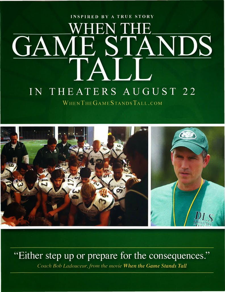 "August 22: Movie ""When The Game Stands Tall"""