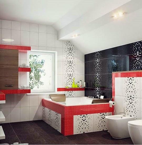 inilah desain warna warni keramik minimalis kamar mandi modern terbaru