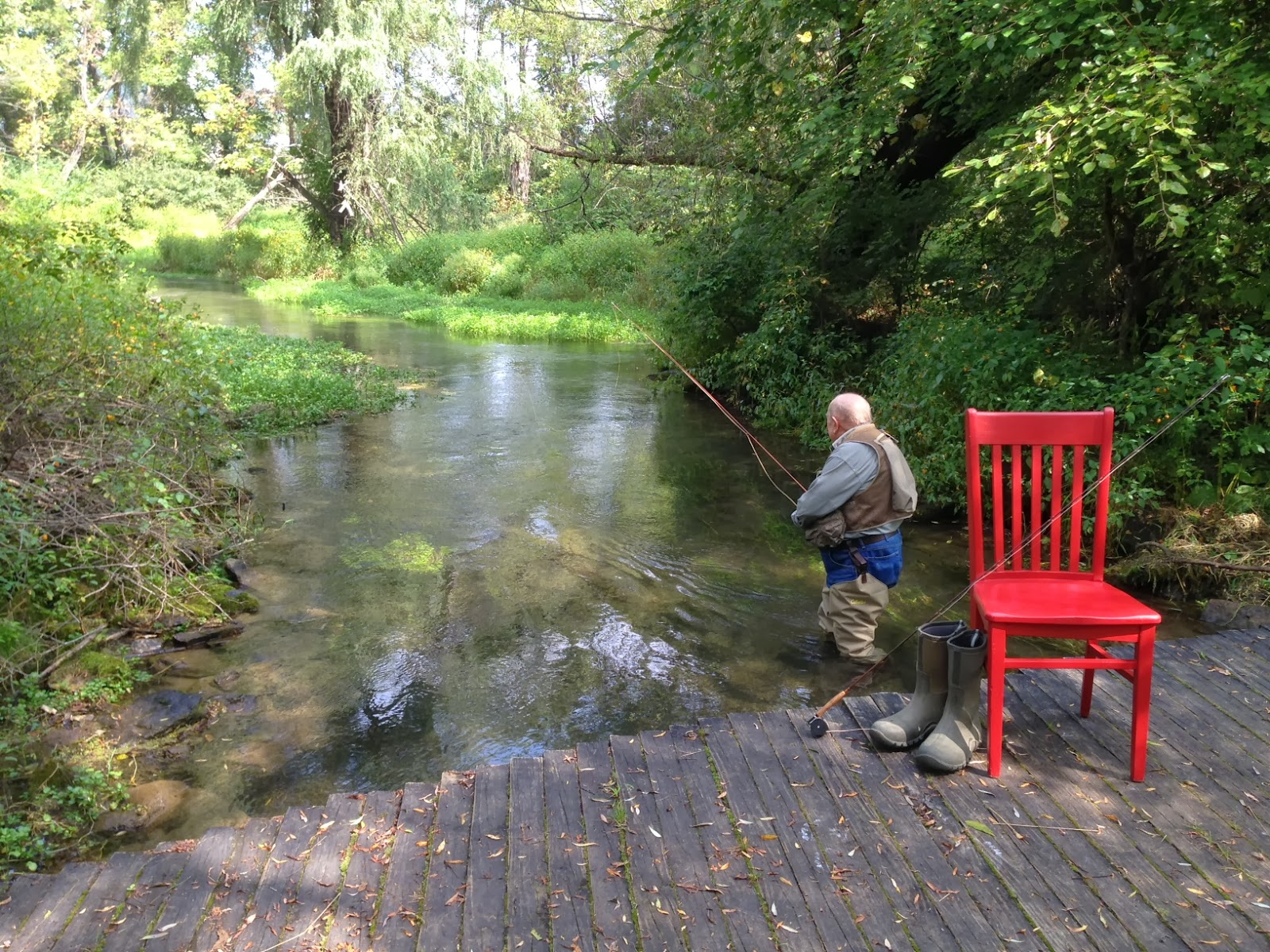 Carlisle house bed breakfast blog fishing around for Trout fishing pa