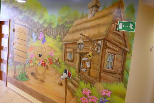 Lublin, aranżacja pokoju dziecka, malarstwo ścienne