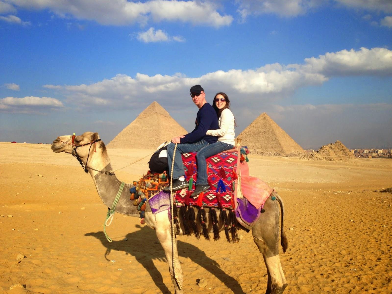 Great Pyramids of Giza camel ride