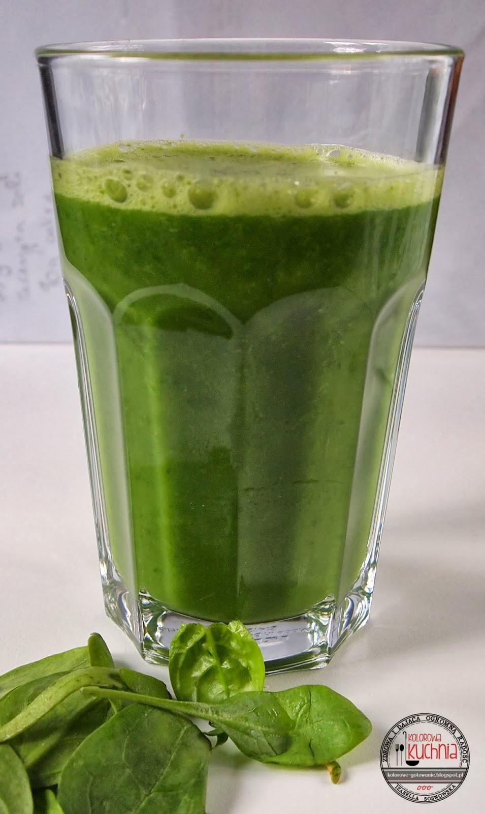 Zielony koktajl - green smoothie kolorowe gotowanie