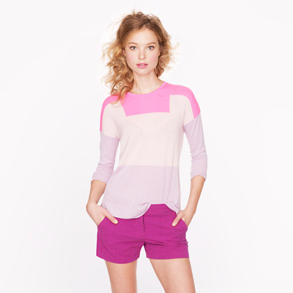 Collection Featherweight Cashmere Colorblock Sweater