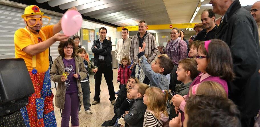 Vladimir Klimsa, Bobo el Payaso mágico en metro valencia