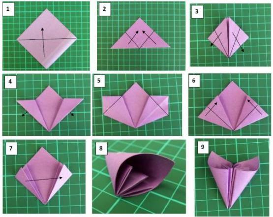 Цветы из бумаги своими руками цветы схемы как делать 57