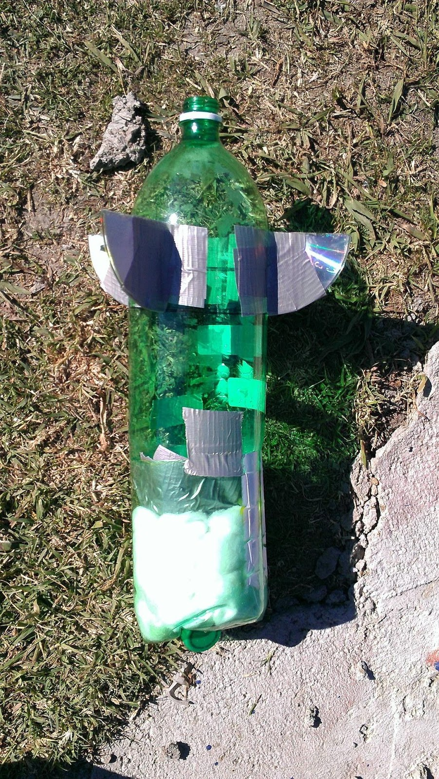 how to make a water bottle rocket with an egg