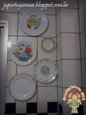 Como colocar pratos na parede