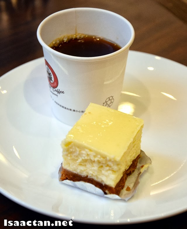 Pairing #2: American Baked Cheesecake with Costa Rica blend coffee