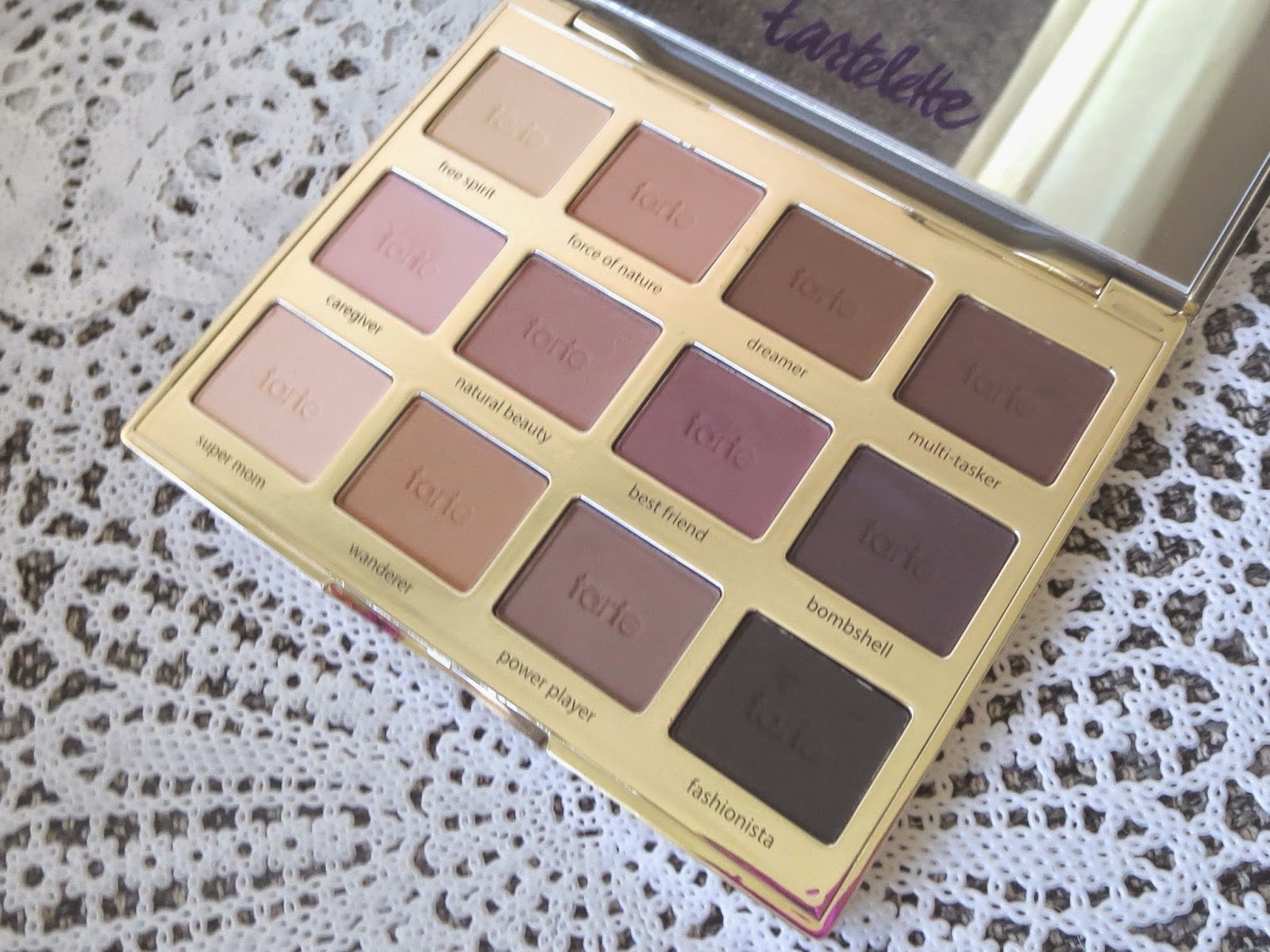 a picture of the Tarte Tartelette Eyeshadow Palette