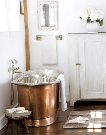 Vignette Design More Romance In The Bathroom Copper And Nickel Soaking Tubs