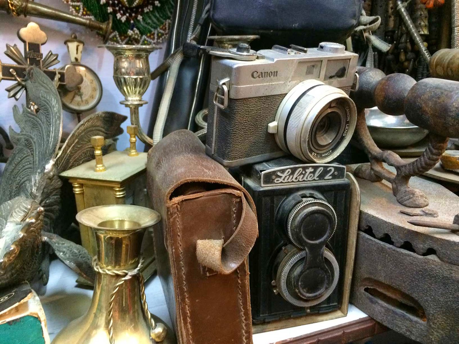 old antique cameras collection