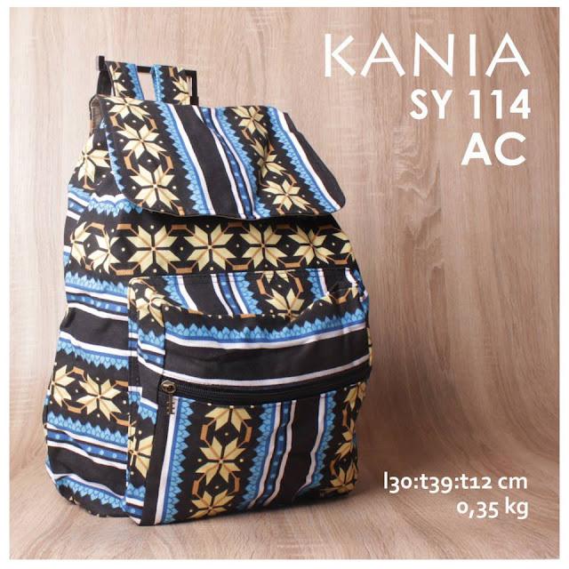 jual online tas ransel kania kanvas murah motif batik