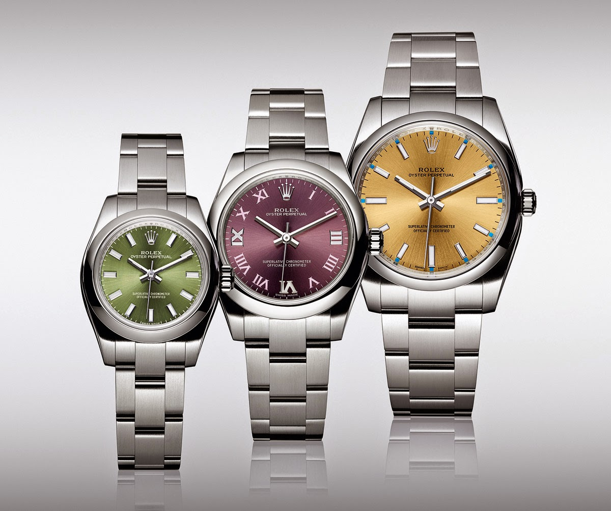 Rolex - Oyster Perpetual 2015 new models