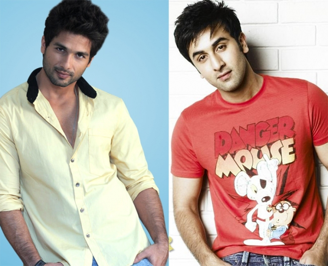 Ranbir Kapoor and Shahid Kapoor in remake movie Andaz Apna Apna Ranbir Kapoor And Shahid Kapoor