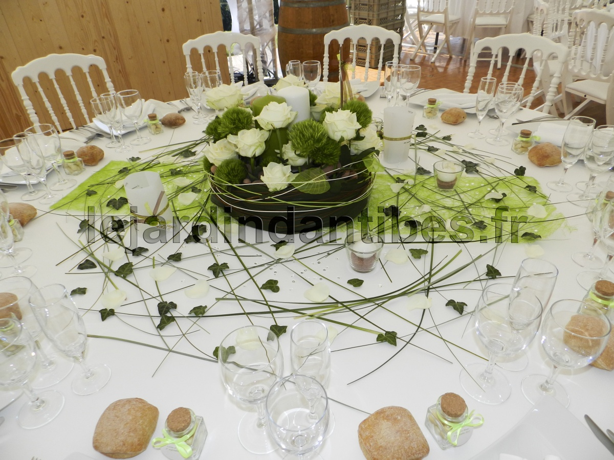 Id Et Photo D Coration Mariage Decoration Table Mariage Idee Couleur Vert Photo D Coration