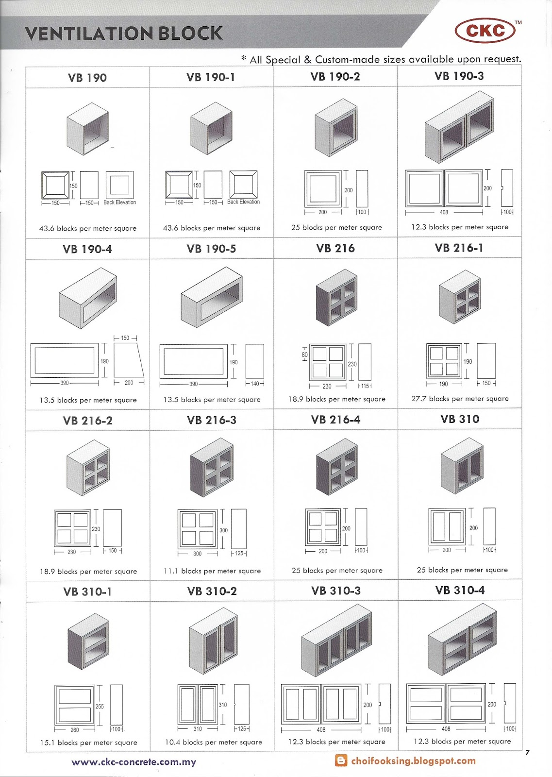Vent block size