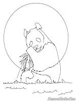 Lembar Mewarnai Gambar Panda
