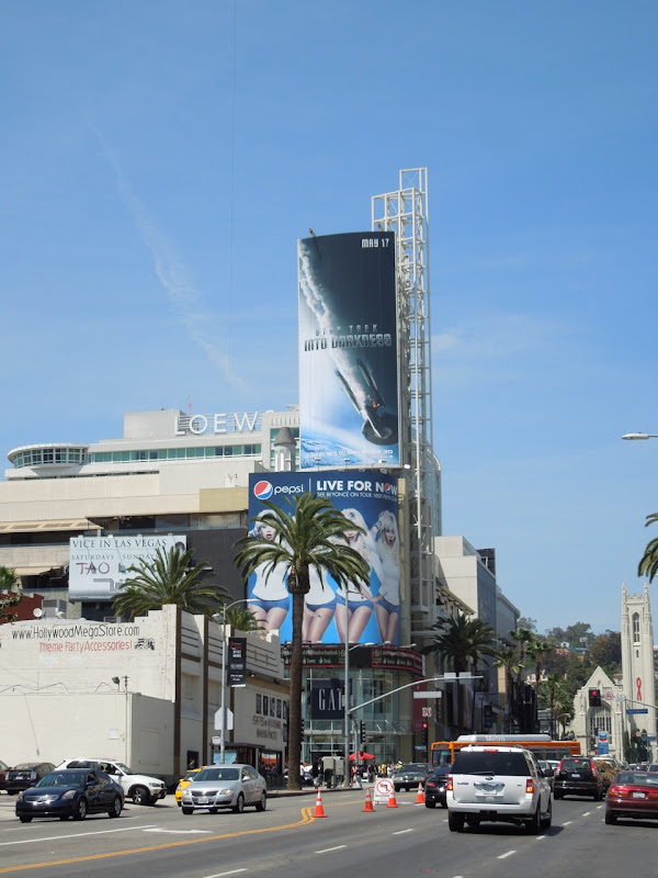 Star Trek Into Darkness billboard Hollywood Highland