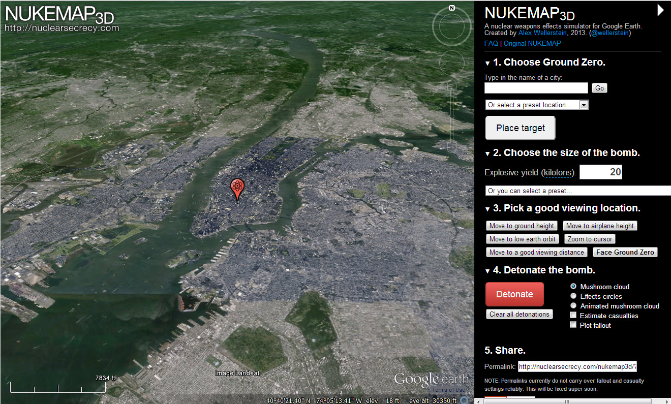 Nukemap 3d is live survivalist forum sciox Choice Image