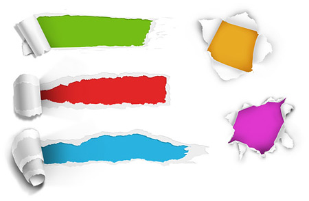 Free Torn Paper Holes Psd Ds