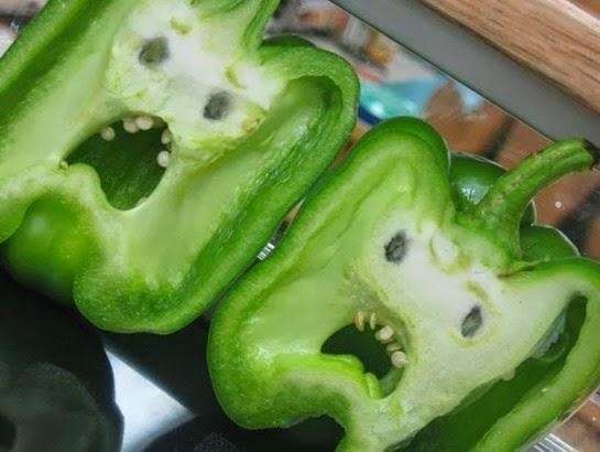 Frutas y verduras con formas divertidas
