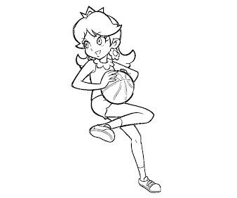 #11 Princess Daisy Coloring Page