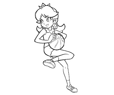 #11 Princess Daisy Coloring Page