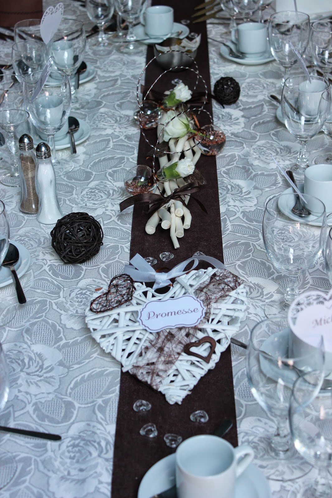 decoration table mariage coeur