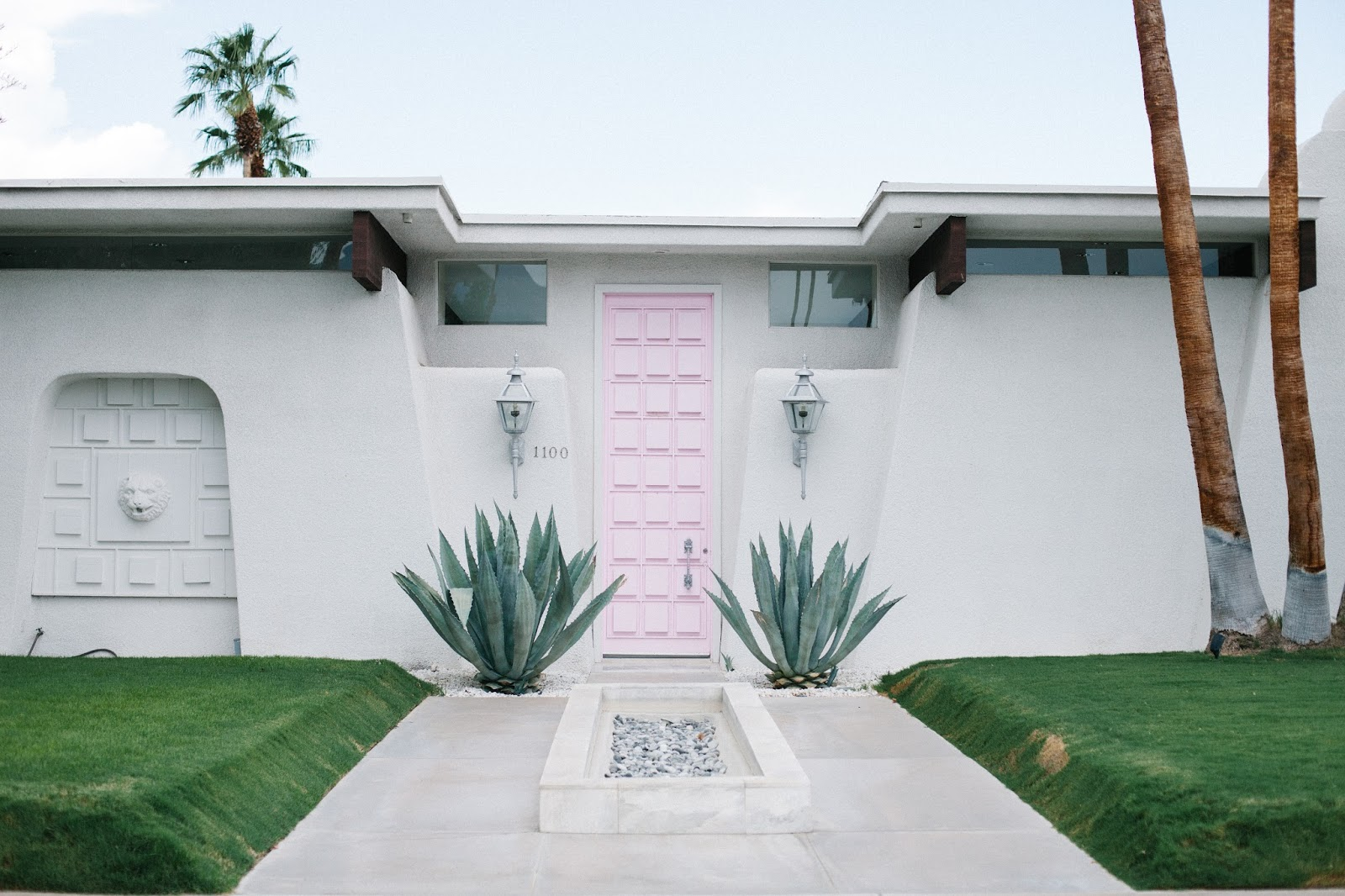 pink door in palm springs