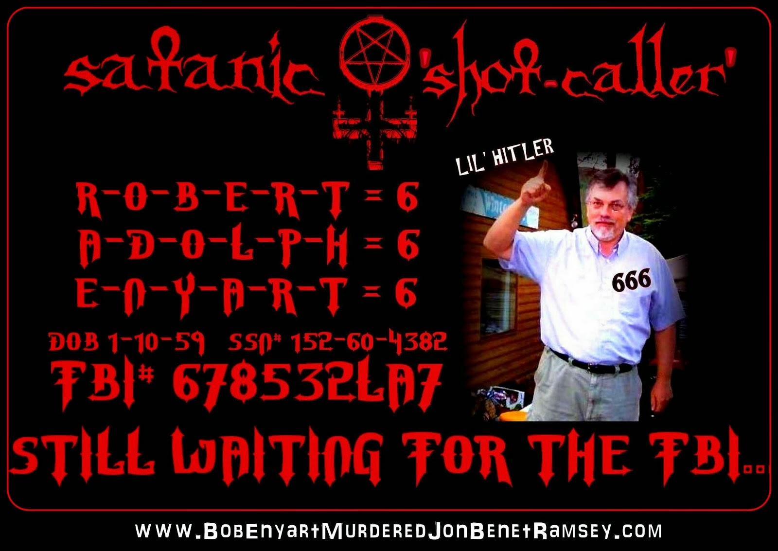 "2nd Call to the FBI | 1-800-CALL-FBI TIP re: DIRTY COPS & Satanic Shot-Caller ""Pastor"" Bob Enyart"