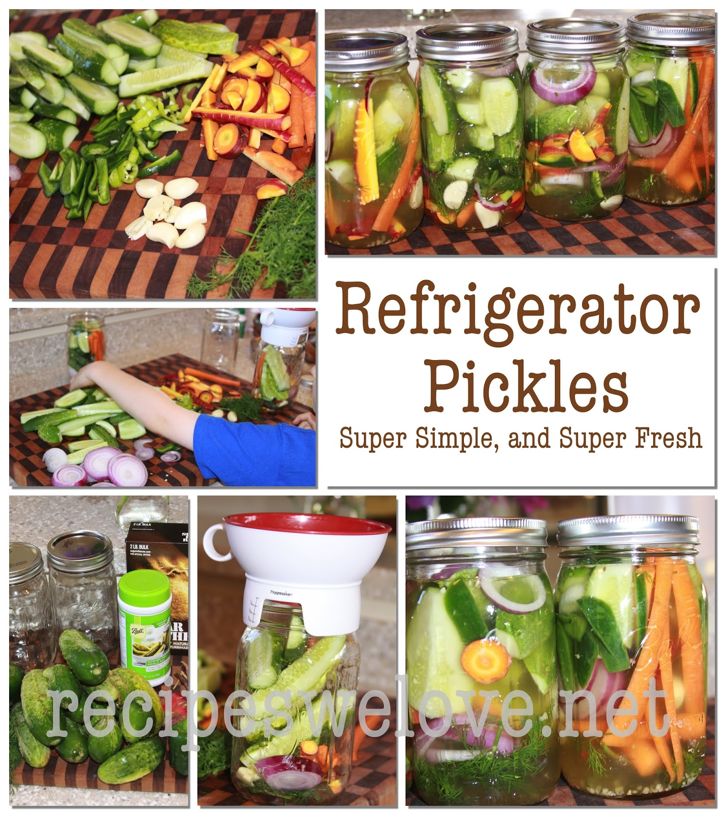 Refrigerator Pickles ...no canning involved