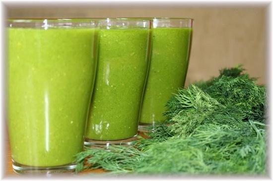 рецепты полезных коктейлей из зелени
