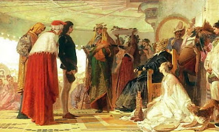 Marco Polo ante Kublai Khan - Tranquillo Cremona