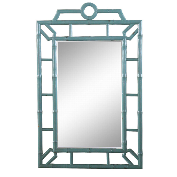 Chinoisserie Faux Bamboo Mirror