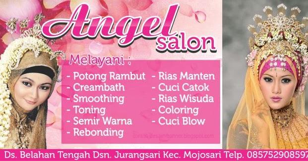 Spanduk Salon Angel Rias Pengantin