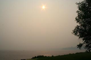 Trout Lake, MI during Duck Lake Fire