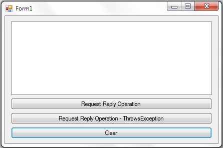Request Reply Message Exchange Pattern in WCF
