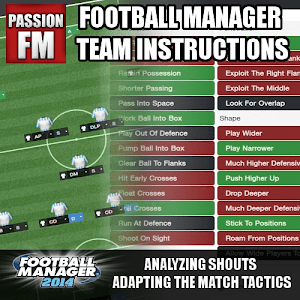 Football Manager 2014 Team Instructions