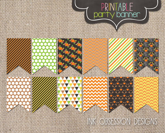 photo regarding Fall Banner Printable referred to as Ink Obsession Styles: Fresh! Delighted Tumble Printable Seasonal Banner