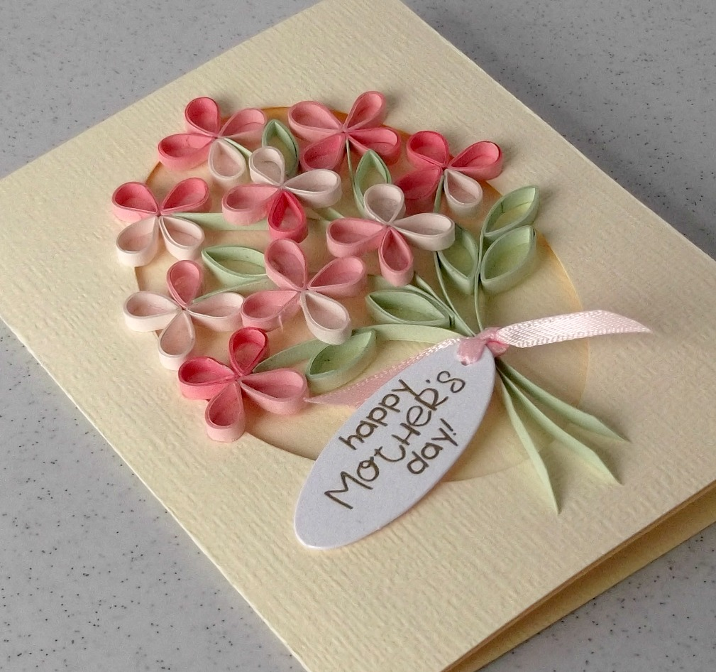Paper daisy cards quilled mother s day card