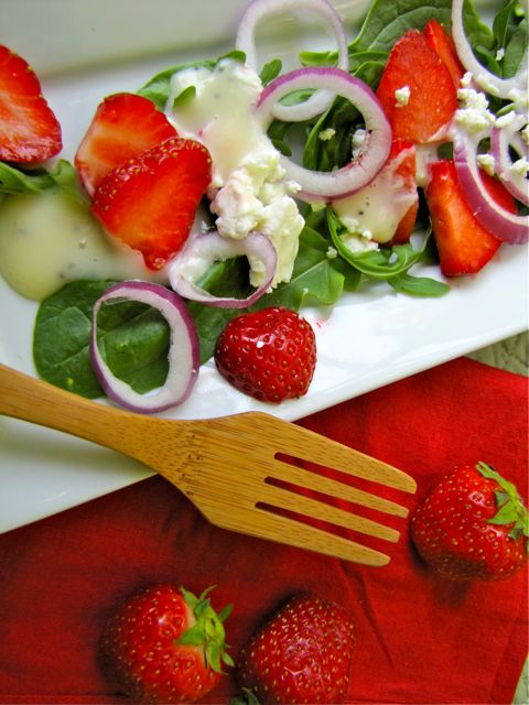 Diane Carnevale: Strawberries, spinach + goat cheese