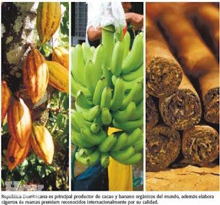 República Dominicana se ha convertido en un referente mundial en banano orgánico, cacao orgánico y tabaco